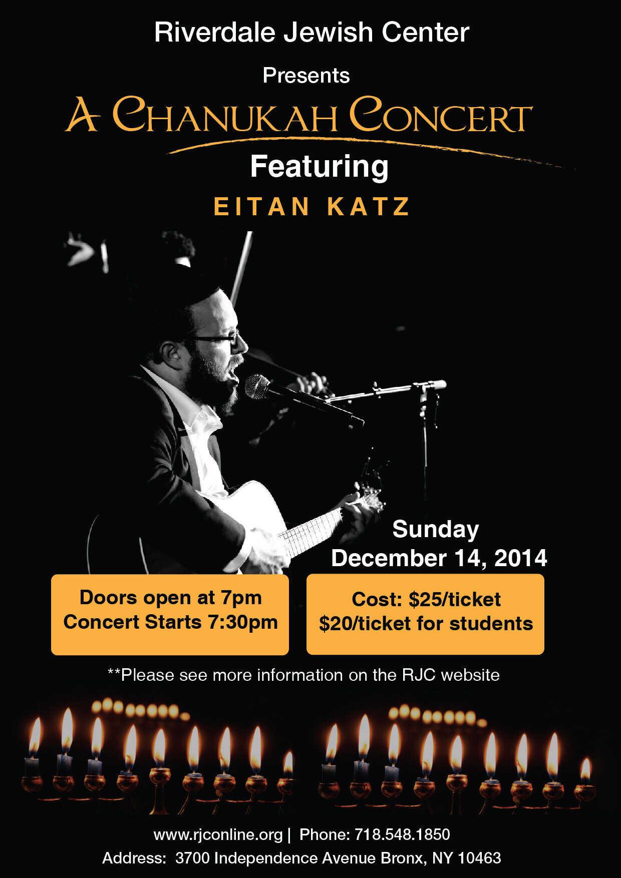 a Chanukah Concert Infographic Design