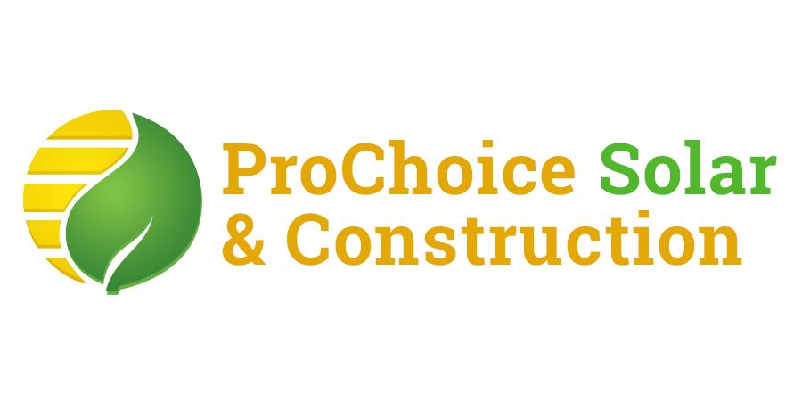 prochoice solar and construction logo